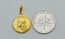 18K solid gold ( God protect you ) medal / pendant