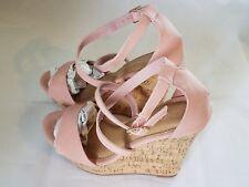 Weeboo Women's Ankle Strap Wedge Platform Sandals - Blush Pink - Size: 5.5 - NEW
