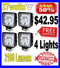 4X 27W 27watt 12V 24V 2160Lumen Offroad SUV LED Square WorkLight Truck Boat Lamp