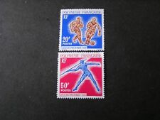 FRENCH POLYNESIA, SCOTT # 203/204(2),COMPLETE 1963 SOUTH PACIFIC GAMES ISS MVLH