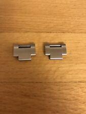 2 x Rolex Submariner oyster bracelet links Solid S/Stl screw correct side NEW UK