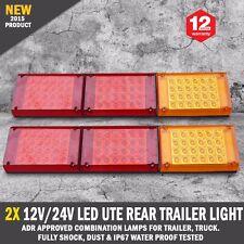 NEW 2 x 12V/24V LED Rear Trailer Tail Lights Caravan Truck Boat Car Indicator