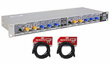 Peavey PV35XO 3 Way Stereo 4/5 Way Rack Mount Mono Electronic Crossover + Cables