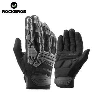 ROCKBROS Winter Full-finger Gloves Warm Windproof Outdoor Sports Bike Gloves