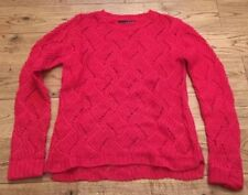 Girls Jumper Red Knitted Uk Size 8 Atmosphere