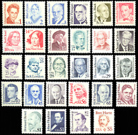 2168-96, Great Americans Set of 28 Different Mint NH Stamps - Stuart Katz