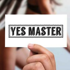 Temporäres Tattoo Sexy Yes Master Slut Frau Sex Geschlecht Sado Maso Strapse xxx