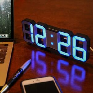 Lily's Home Minimalist LED Clock with 3 Adjustable Brightness Levels and AC/DC P