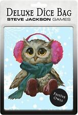 More details for deluxe dice bag festive owls