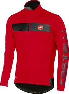 Castelli Raddoppia Men's Windstopper Cycling Jacket Large Red : CLEARANCE