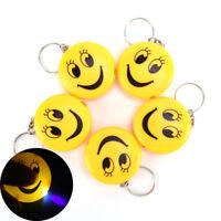 Cartoon Emoji Design Led Key chain With Sound Flashlight Kid Pig Keyring SEAU