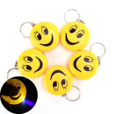 Cartoon Emoji Design Led Key chain With Sound Flashlight Kid Pig Keyring CN