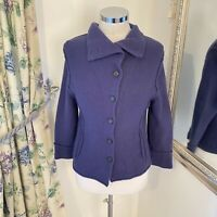 Oska Small 8 10 purple cosy wool knitted cardigan fitted cosy warm top winter GC