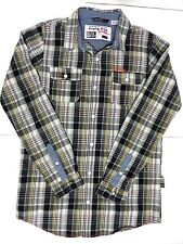 Triple Five Soul youth 10/12 size large plaid button down long sleeve shirt KIDS