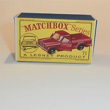 Matchbox Lesney 71 b Jeep Gladiator empty Repro D style Box