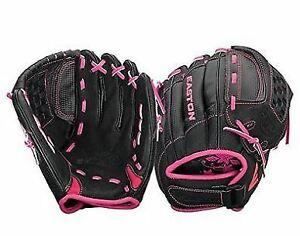 "New Easton Z-Flex ZFXFP1000BKPK 10"" RHT Youth Fastpitch Softball Gloves"
