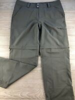 COLUMBIA TITANIUM* Hiking Adjustable Omni-Dry* Pants in Stone ~ 14 New NWT
