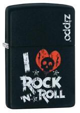 Zippo I Love Rock N Roll Lighter Benzin Sturm Feuerzeug