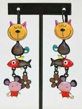LC/_ Sieste Little Chat Boucles D/'Oreilles Goutte Bijoux Crochet Auriculaire