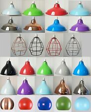 Modern Metal Ceiling Pendant Lamp shade Industrial Retro Cafe Bar Easy Fit Light
