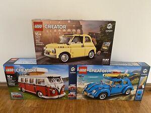 Lego 10220 10252 10271 Creator Expert Volkswagen T1 Campervan Beetle Fiat New