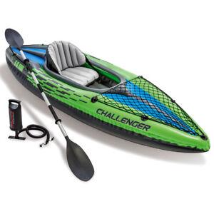 Challenger K1 Kajak Set Schlauchboot + Paddel + Pumpe für 1 Person von INTEX