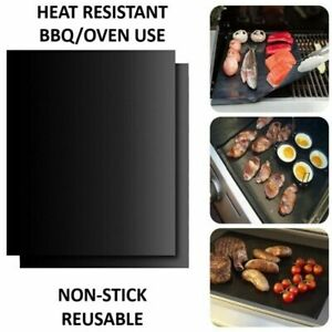 Large BBQ Grill Mat Non-Stick Oven Liners Teflon Cooking Baking Sheet 40x50cm