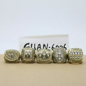 1981 1984 1988 1989 1994 San Francisco 49ers Super Bowl Championship Rings Set