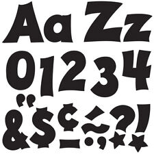 Black 4-Inch Friendly Uppercase/Lowercase Combo Pack (En/Sp) Ready Letters® Tren