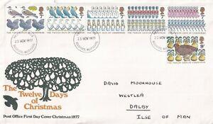23 NOVEMBER 1977 CHRISTMAS POST OFFICE FIRST DAY COVER BRADFORD FDI