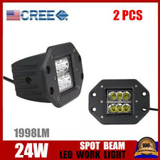 2X 24W SPOT Beam CREE LED Work Light Bar Fog ATV SUV Off-road Driving lamp 16W