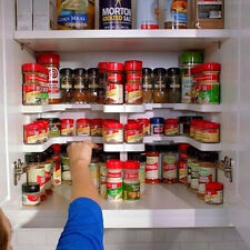 Kitchen 2 Layer Spicy Shelf Spice Storage Shelving Pantry Pan Container ABS Rack