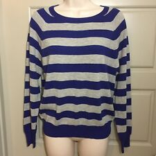 I Love H 81 Womens Sweater Striped Blue Size S