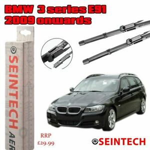 "BMW 3 SERIES E91 2009 ONWARDS SPECIFIC FIT FRONT WINDSCREEN WIPER BLADES 24""18"""