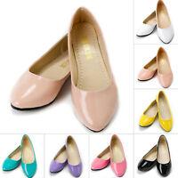 Women Flat Pump Lady Glitter Slip On Ballet Ballerina Dolly Bridal Casual Shoes