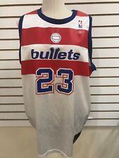 NEW Michael Jordan #23 Bullets Reebok NBA Jersey Hardwood Classic 2X *3 DAY SHIP