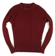 Superdry Pullover Sweater Mit Wolle Bordeaux Gr. M