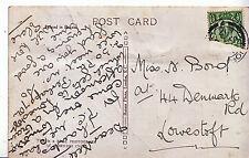Genealogy Postcard - Family History - Bond - Denmark Road - Lowestoft   U3757