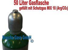 Schutzgasflasche 50 Liter (Arg/CO2) Gasflasche Schweißgas Mischgas Schutzgas