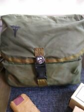 Vintage US Military Green Medic Tri-Fold Medical Instrument Supply Bag Army DLA
