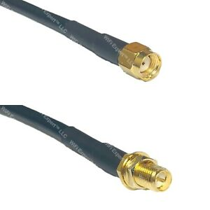 RG58 RP-SMA MALE to RP-SMA FEMALE Coaxial RF Cable USA-Ship Lot