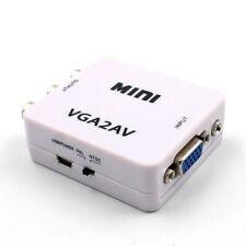 VGA to RCA AV Converter with 3.5mm Audio VGA 2 AV