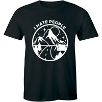Mens I Hate People Camping Tshirt Funny Outdoors Sarcastic Tee For Guys