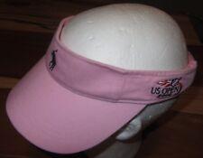Vintage 2006 Us Open Tennis Womens Pink Visor, Hat, Ralph Lauren, Strapback, Euc