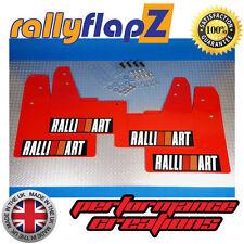 rallyflapZ Mitsubishi Evo Lancer 7-9 Mudflaps Red Ralliart White R&O Blk 4mm PVC