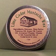 Lime Cedar Mustache Wax - 1 oz