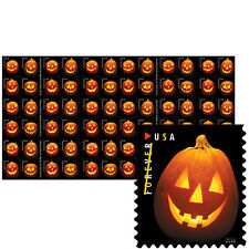USPS New Jack-o-lanterns Press Sheet with Die Cuts