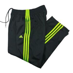 Adidas Originals Mens Medium Black Neon Green Warm up Track Pants