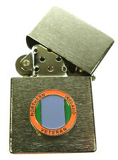 NORTHERN IRELAND MEDAL TYPE VETERANS  WINDPROOF CHROME PLATED LIGHTER