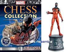 MARVEL CHESS COLLECTION #73 SCARLET SPIDER FIGURINE EAGLEMOSS NEW (71 72)